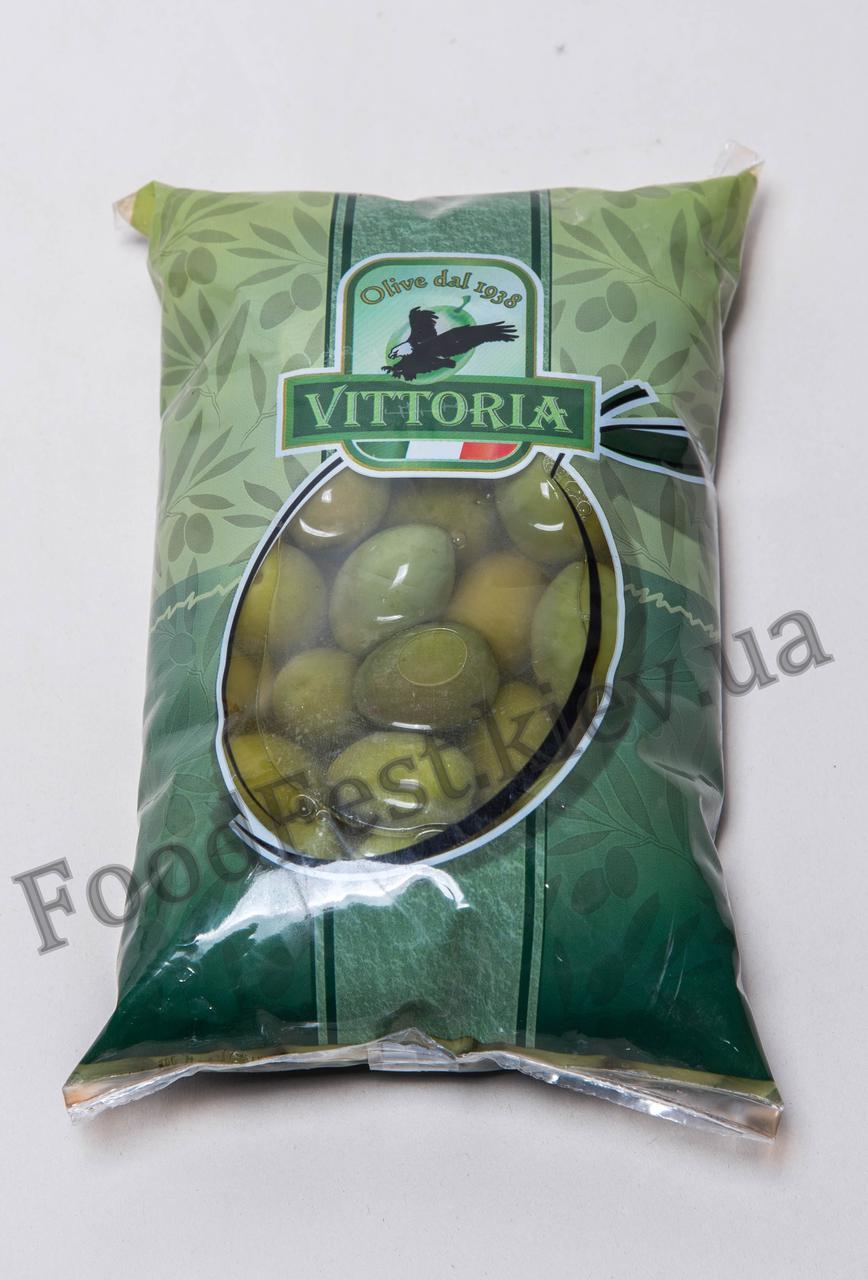 Оливки гиганты с/к ТМ Vittoria Olive Verdi Dolci Giganti 850/500г