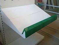Полка металева для овочевих стелажів (в зборі) шириною 750мм, фото 1