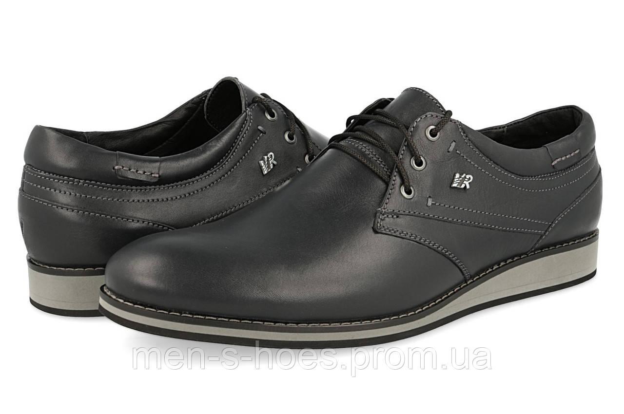 Туфли мужские кожаные Vivaro Black на шнурках 46 размер