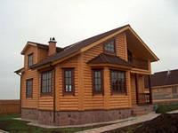 Навісні фасади з обробкою сайдингом Блок хаус