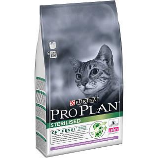 Про План 1,5 кг - корм для стерилизованных кошек/кастрированных котов, с индейкой