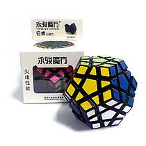 Логічна гра Мегамінкс 3×3 MoYu YuHu Megaminx Чорний