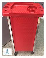 Тележка парикмахерская черная на пять полок YRE Q21 RED 47-5, фото 1