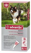 Капли от блох Bayer Advantix (Баер Адвантикс) для собак весом от 10 до 25 кг 1 пипетка х 2,5 мл