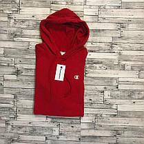 Худи Champion  • Красная толстовка • Топ качество • лого вышит, фото 3