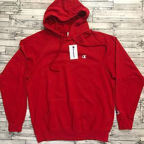 Худи Champion  • Красная толстовка • Топ качество • лого вышит, фото 2