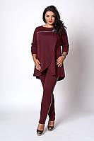 Костюм мод №718-1, размеры 52,54 бордовый