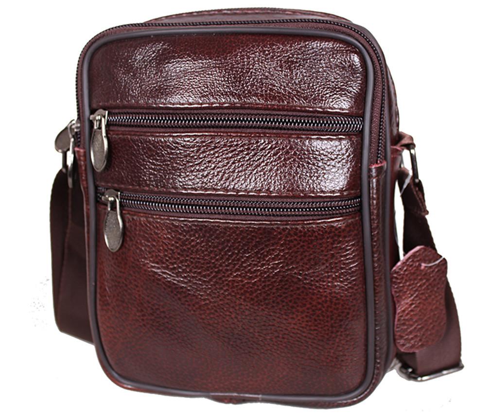 Мужская кожаная сумка BON2355-1 коричневая