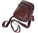 Мужская кожаная сумка BON2355-1 коричневая, фото 4