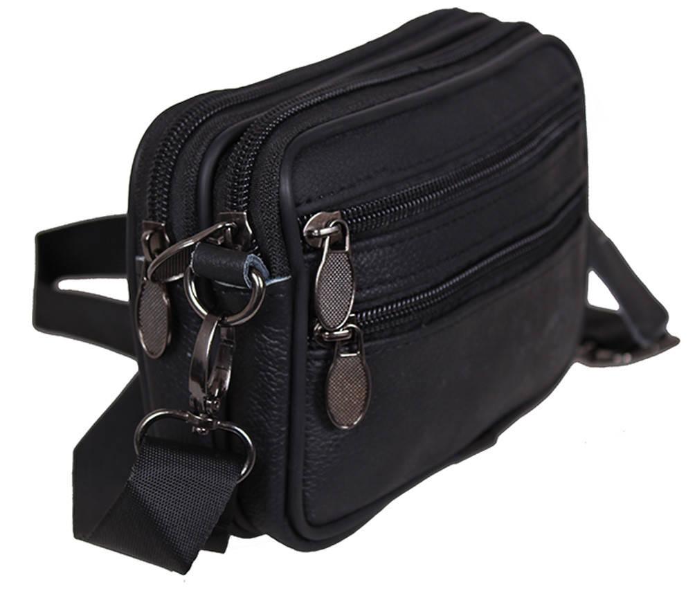Мужская кожаная сумка Dovhani Bon9947-1 Черная