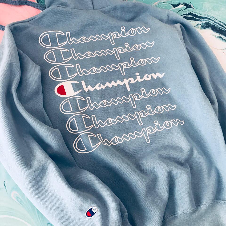 Champion кенгурушка • Оригинальная голубая толстовка • Топ качество