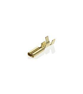 TA3-1.5F Розетка нож. авто шириной 2.8 мм на провод 1.0-1.5 мм2, 2 уровня обжима, неизолиров за 100