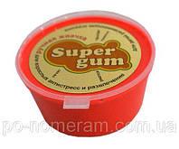 Игра SuperGum Жвачка для рук Яркий (неон) Красный (50г.)