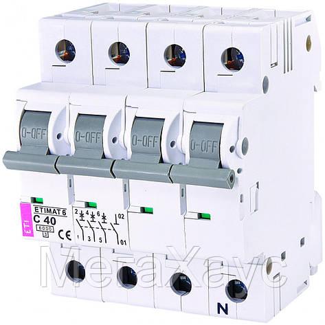Автоматический выключатель ETIMAT 6  3p+N C 40А (6 kA), фото 2