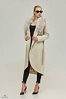 Женское зимнее пальто с меховым воротником Т-58ех