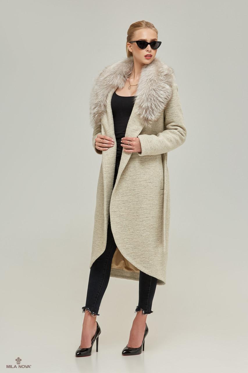 3e7043f4244 Женское зимнее пальто с меховым воротником Т-58ех - Интернет-магазин