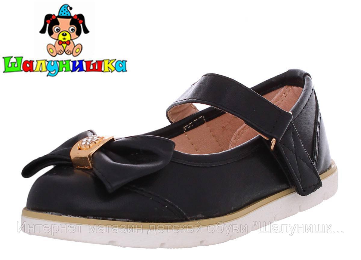 Детские туфли для девочки 300-217 чёр