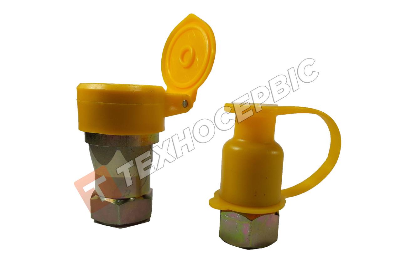 Роз'єм пневматичний (євро) М22х1,5 мама + тато, жовтий,  пневмороз'єм, повітряна розривна муфта (98862201)