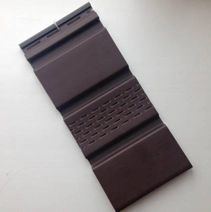 Карнизная подшивка АйДахо - коричневый (с перфорацией и без), фото 2