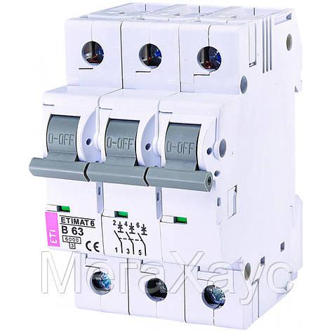 Автоматический  выключатель ETIMAT 6 3p B 63А (6 kA), фото 2