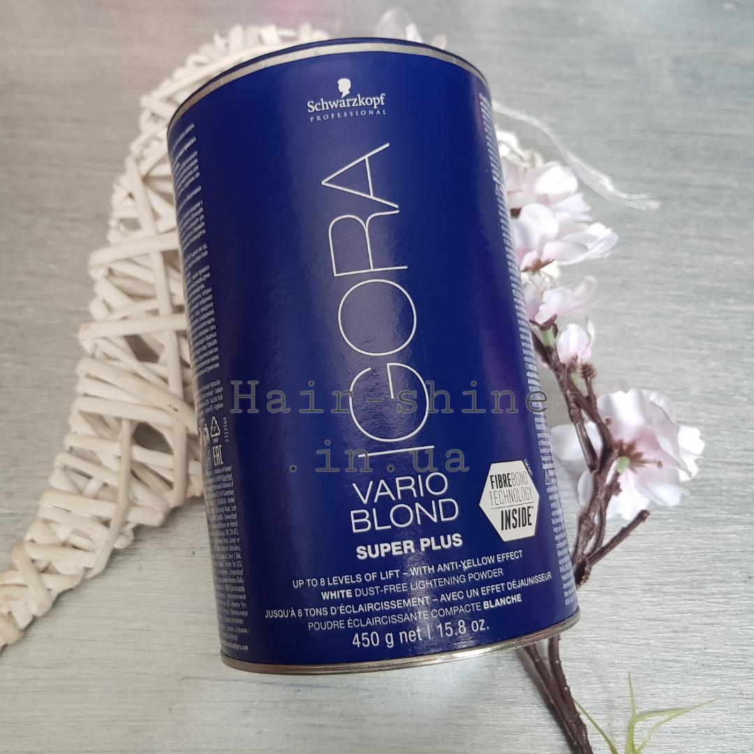 Осветляющий порошок для волос экстрасильный Schwarzkopf Professional Igora Vario Blond Extra Power 100г розсип