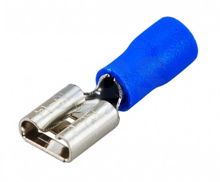 TAI-2F Розетка нож. авто шириной 6.3 мм на провод 1.5-2.5 мм2, изолированная за 100 шт