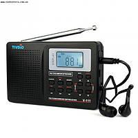 DSP радиоприемник TIVDIO V-111 FM AM,SW часы,будильник,USB