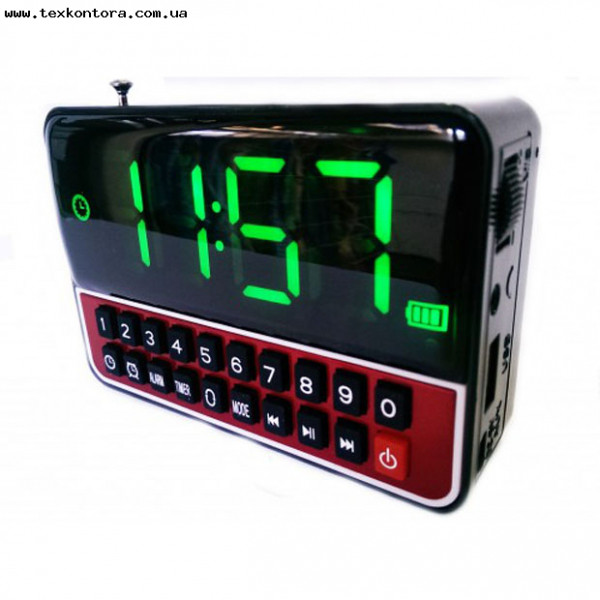 Часы, большой экран, радиоприемник, MP3, WS-1513