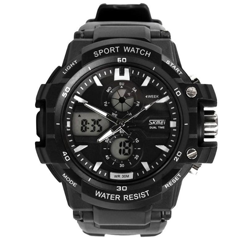 Часы Skmei Мод.0990, черный-белый, в металлическом боксе