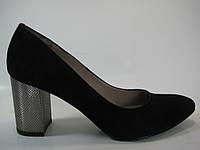 Женские замшевые туфли на каблуке ТМ Камея, фото 1
