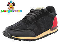 Кроссовки для девочки Valentino 3чёр, фото 1