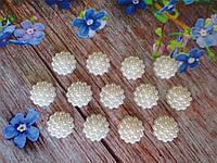 Клеевой декор в пупырышку, d 12 мм, цвет кремовый, 20 шт.