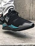 Кроссовки Adidas Y-3 Qasa x Kaiwa Chunky black green. Живое фото. Топ качество (Реплика ААА+), фото 7