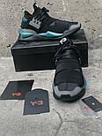 Кроссовки Adidas Y-3 Qasa x Kaiwa Chunky black green. Живое фото. Топ качество (Реплика ААА+), фото 8