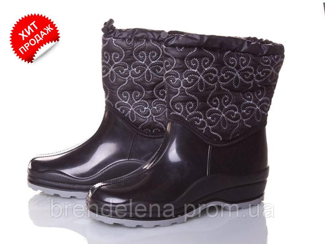Стильні жіночі гумові чоботи нафлисе( р37-41)