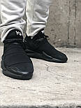 Мужские кроссовки Adidas Y-3 Qasa x Kaiwa Chunky full black. Живое фото. Топ качество (Реплика ААА+), фото 2