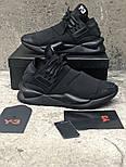 Мужские кроссовки Adidas Y-3 Qasa x Kaiwa Chunky full black. Живое фото. Топ качество (Реплика ААА+), фото 3