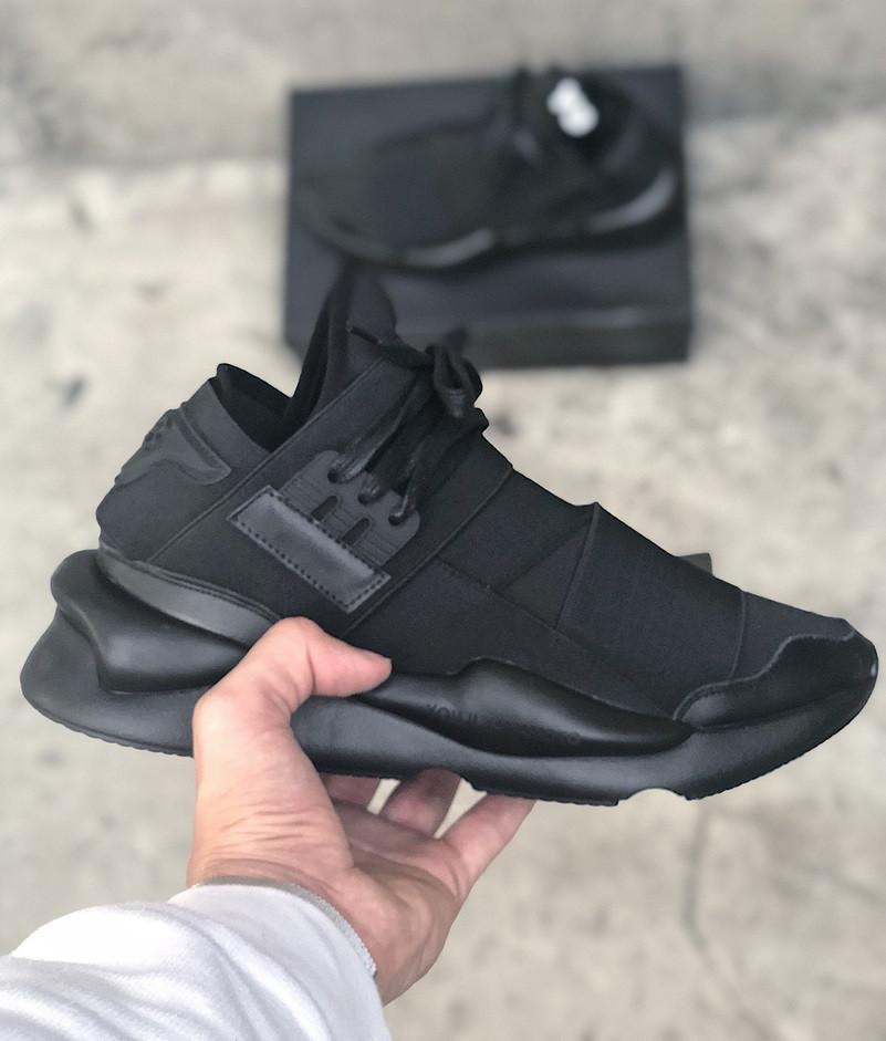 Мужские кроссовки Adidas Y-3 Qasa x Kaiwa Chunky full black. Живое фото. Топ качество (Реплика ААА+)