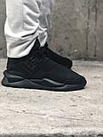 Мужские кроссовки Adidas Y-3 Qasa x Kaiwa Chunky full black. Живое фото. Топ качество (Реплика ААА+), фото 5