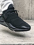 Мужские кроссовки Adidas Y-3 Qasa x Kaiwa Chunky full black. Живое фото. Топ качество (Реплика ААА+), фото 6
