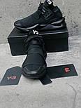 Мужские кроссовки Adidas Y-3 Qasa x Kaiwa Chunky full black. Живое фото. Топ качество (Реплика ААА+), фото 7