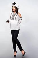 Утепленные классические черные брюки для беременных Dianora