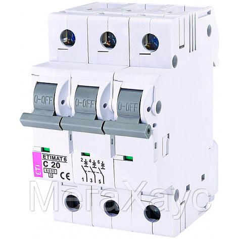 Автоматический выключатель ETIMAT 6  3p C 20А (6 kA), фото 2