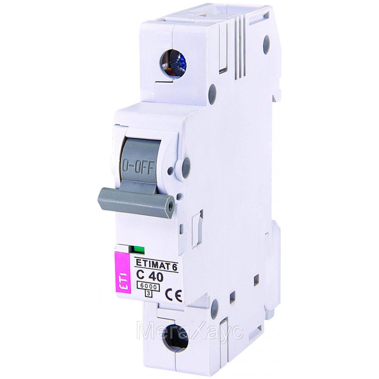 Автоматический  выключатель ETIMAT 6 1p С 40А (6 kA)