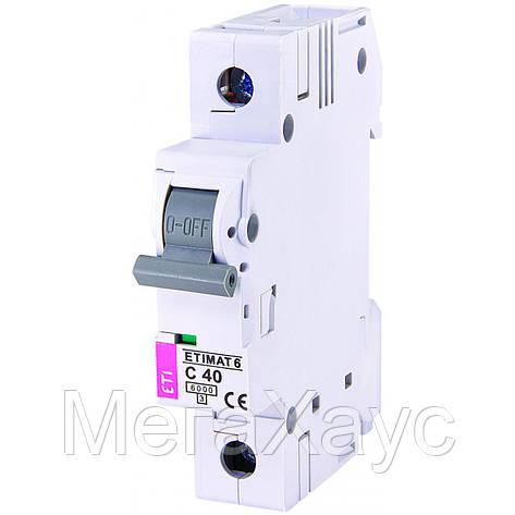 Автоматический  выключатель ETIMAT 6 1p С 40А (6 kA), фото 2