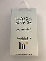 Мини парфюм в подарочной упаковке jeanmishel loveAcqua Di GioIa 45мл
