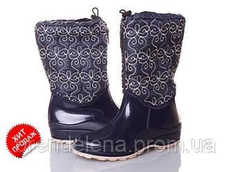 Жіночі гумові чоботи утеплені р(37)
