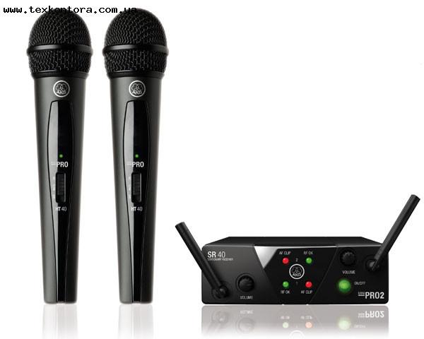 Микрофон, Радиомикрофоны AKG WMS 40 MINI2 Vocal Set Dual