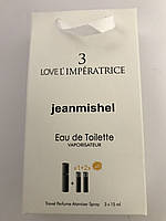 Мини парфюм в подарочной упаковке jeanmishel loveL`Empiratrice 3 45мл