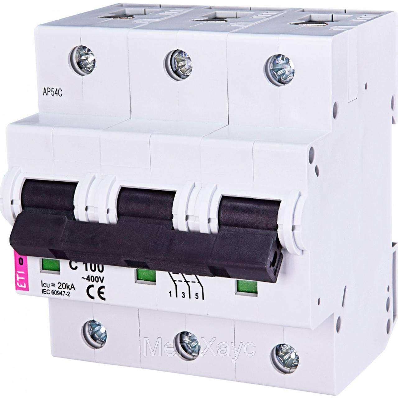 Автоматический выключатель ETIMAT 10  3p C 100А (20 kA)